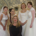 Wedding fair recently with bridal models